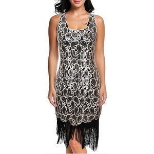 NEW ViJiV Flapper Sequin Dress in Size:Small